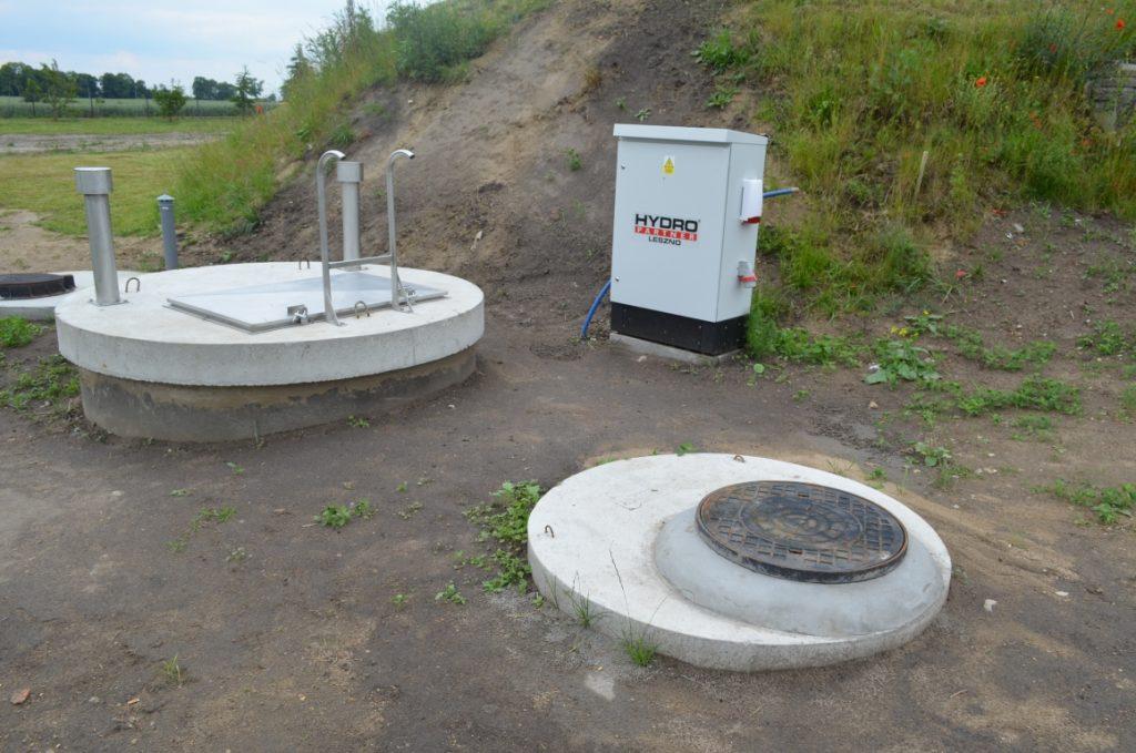Elementy infrastruktury technicznej oczyszczalni w Kopytkowie