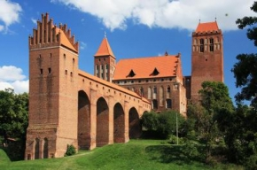 Zamek w Kwidzynie z XIII-XIV wieku wzorowany na zamkach krzyżackich