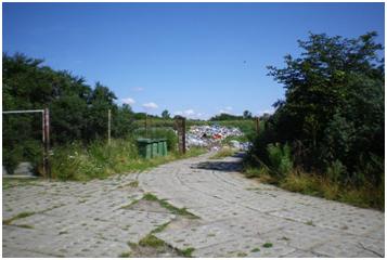 Składowisko odpadów w Bobrowcu przed rekultywacją